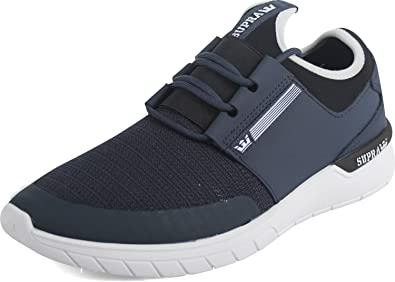 Supra Men's Flow Run Shoes,Size 6,Navy-White