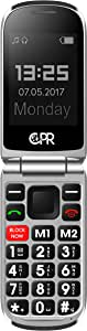 CPR Call Blocker CS900 Unlocked Flip Cell Phone - Big Button - SOS Emergency Assist (Matt Black)