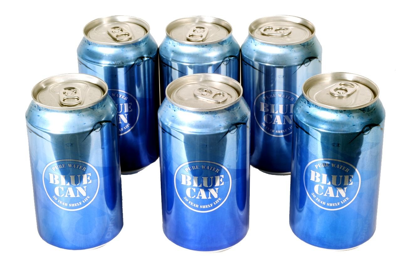 Blue Can Premium Drinking Water H2GoPak - 6 Pack by Blue Can