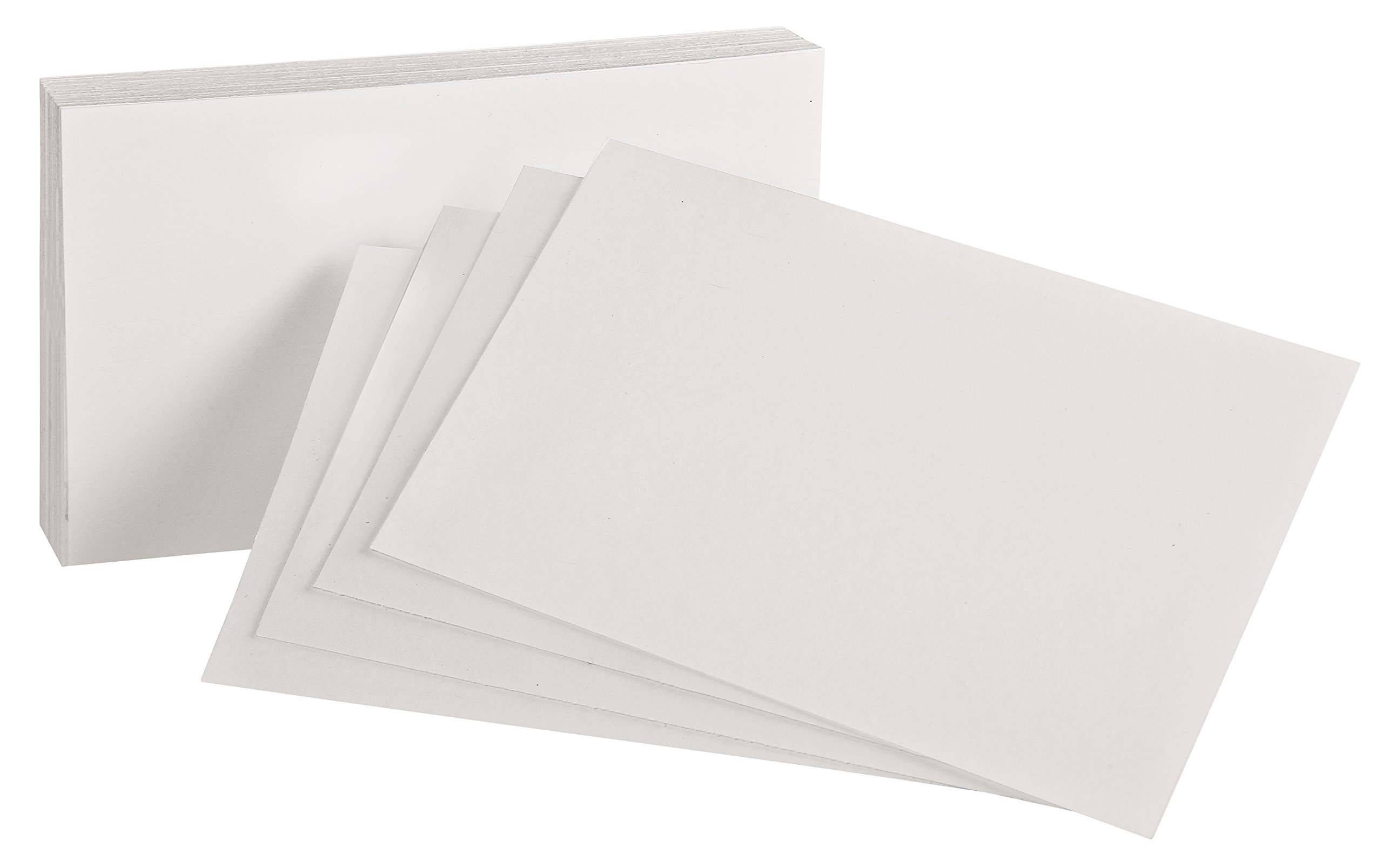 Oxford Blank Index Cards, 4'' x 6'', White, 100 Per Pack (40156-SP)