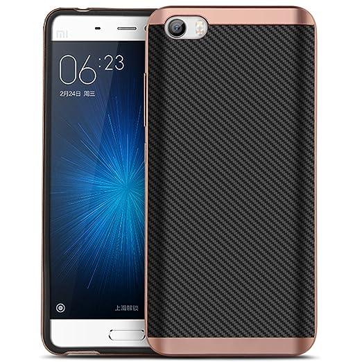 22 opinioni per Xiaomi 5 Custodia, HICASER Carbon Fiber Resistente Agli Urti TPU Case +PC Bumper