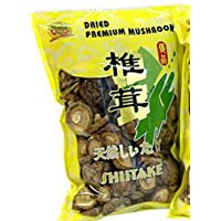 Premium Dried Shiitake Sliced Mushrooms 1 pound jumbo bag (Whole)