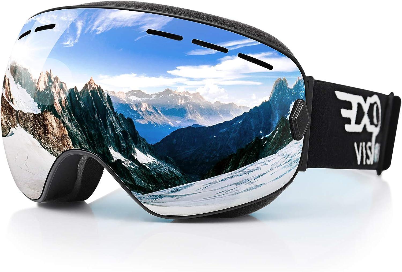 Mens Women/'s Ski Snowboard Goggles Unisex Anti Fog UV Double Lens Skiing Goggles