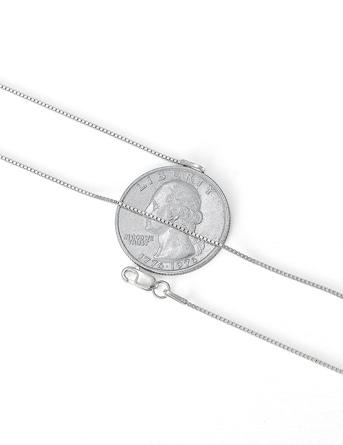 LAVU 925 Sterling Silver Box Chain Necklace for Women