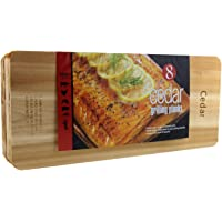 """Coastal Cuisine Cedar Grilling Planks, Simply Soak, Smoke, & Serve- Designed for Moist & Flavorful Fish, Meat, and Veggies €"""" Add Sweet-Smoky Flavor to your Grilling Favorites, 7x16€ Set of 8"""