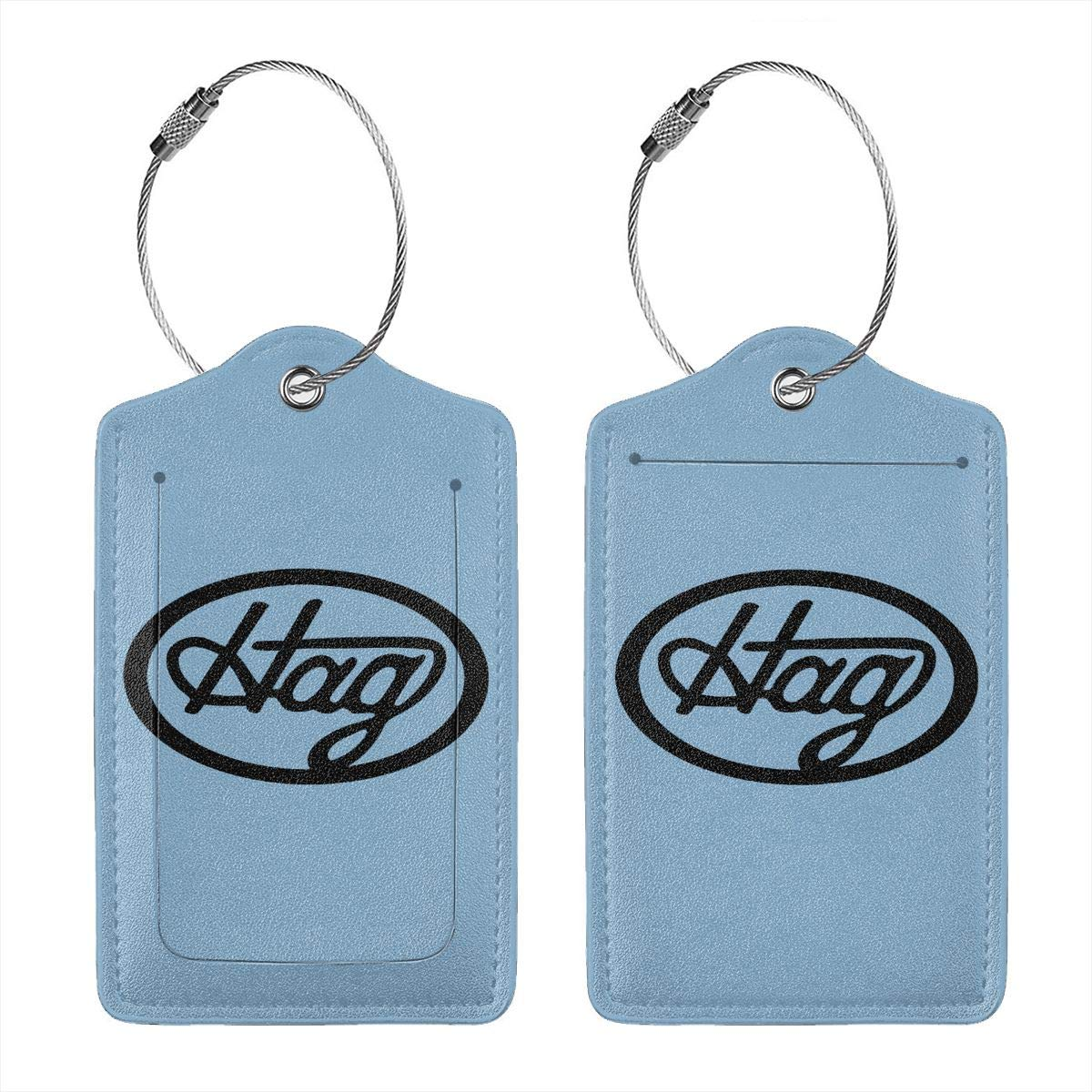 Merle Haggard Hag Logo Leather Luggage Tag Travel ID Label For Baggage Suitcase