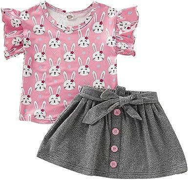 YICANG - Conjunto de camiseta y faldas para bebé y niña, diseño ...