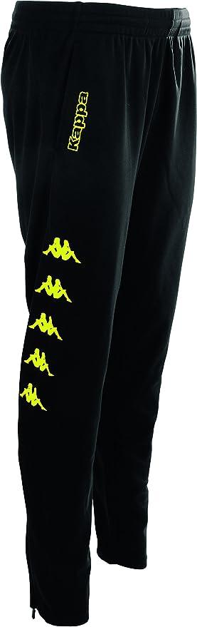 Pantalón Kappa para hombre barato de color negro con logo neón