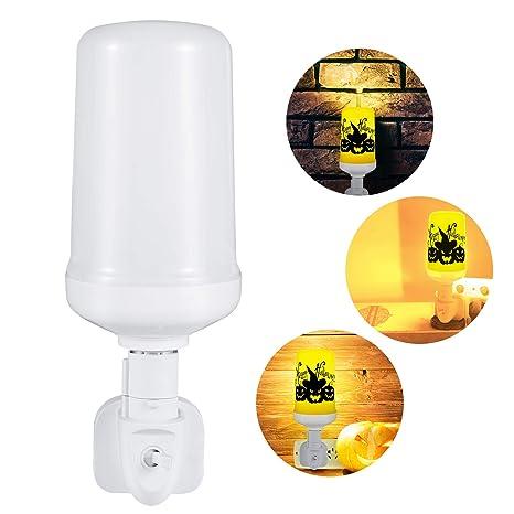 Lispeed Bombilla con Efecto Llama, Bombilla LED con más Modos, luz Decorativa para Halloween