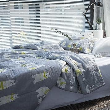 Amazon.com: 100% Wash Cotton Thin Quilt For Summer, Super Soft ... : lightweight quilts for summer - Adamdwight.com