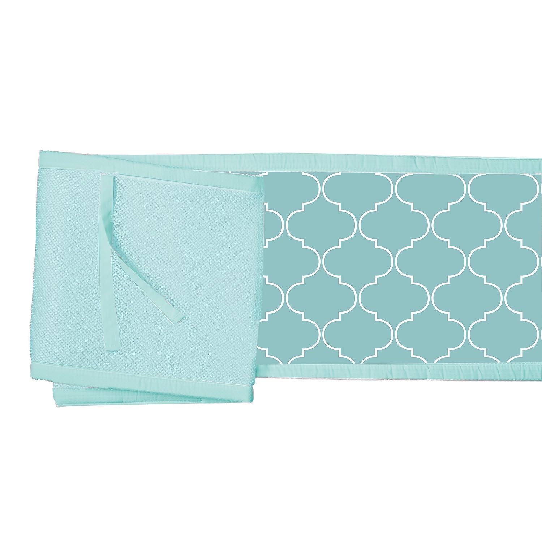 Seafoam BreathableBaby Mesh Printed Crib Liner