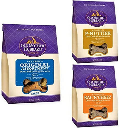 Old Mother Hubbard Crunchy Classic Natural Large Biscuits Variety Pack Pack Of 3