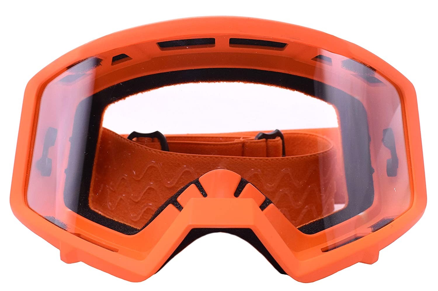 Typhoon Motocross Goggles Dirt Bike ATV Goggles Motorcycle Off Road Unisex Adult and Youth Yellow w//Clear Lens