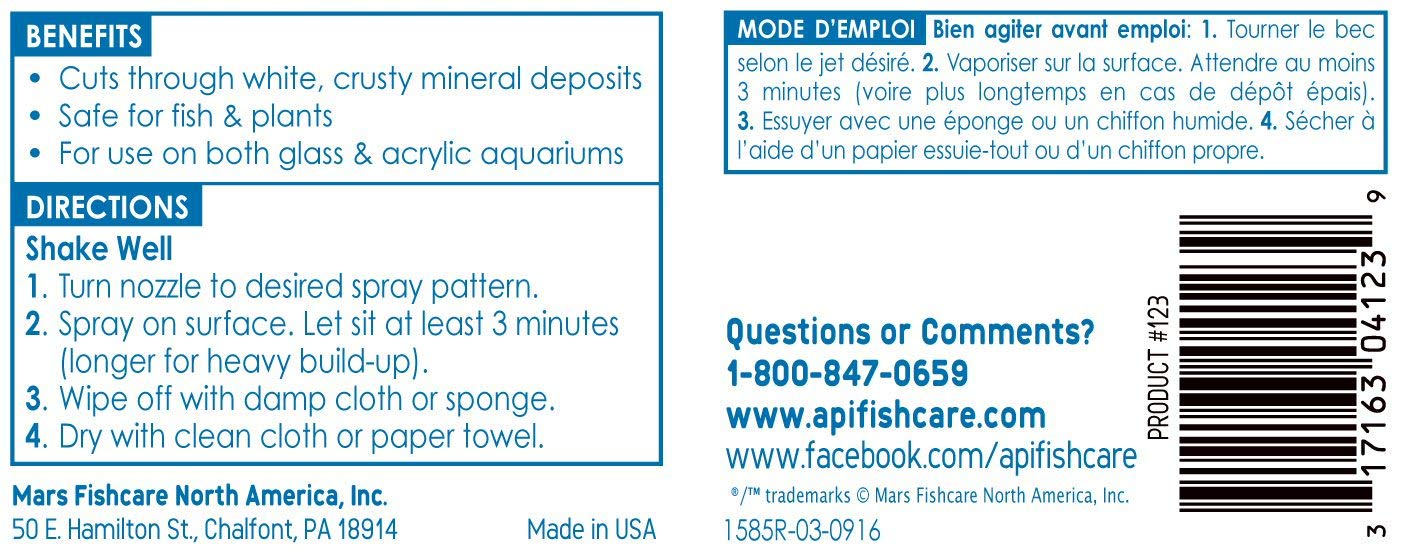 API Seguro y fácil de Acuario Limpiador Spray, 237 ml: Amazon.es: Productos para mascotas