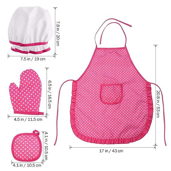 BESTONZON - Conjunto de 11 piezas de chef para niños con gorro de cocinero y utensilios de cocina: Amazon.es: Hogar
