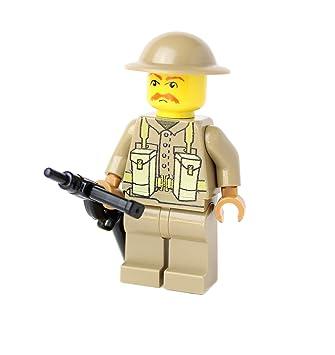 WW2 WWII Custom British Soldier with BrickArms Sten, Print