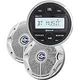 "JBL MPK175 w/PRV 175 AM/FM USB Bluetooth Gauge Style Stereo & MS6520 6.5"" Coaxial Marine Speakers (Pair) (54187)"