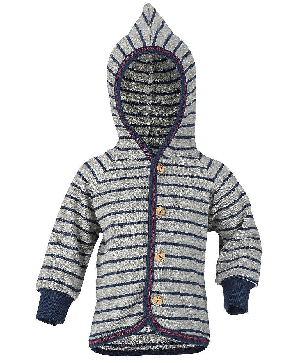 kbT Baby Frottee Jacke mit Kapuze Engel Natur 100/% Wolle
