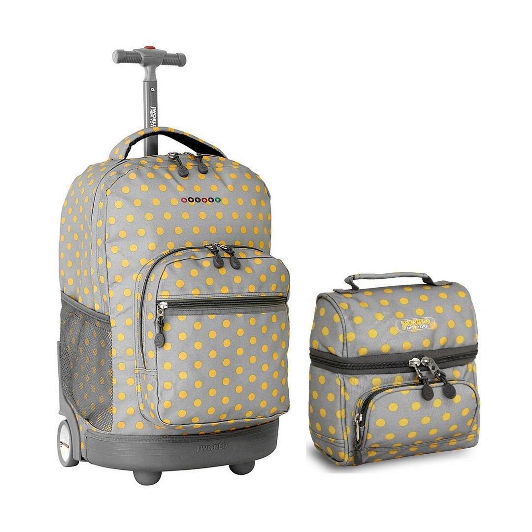 ffb103c451 Amazon.com: J World Combo Rolling Backpack & Lunch Bag Back to School  Bundle Set Sunrise / Corey (Spring): Kitchen & Dining