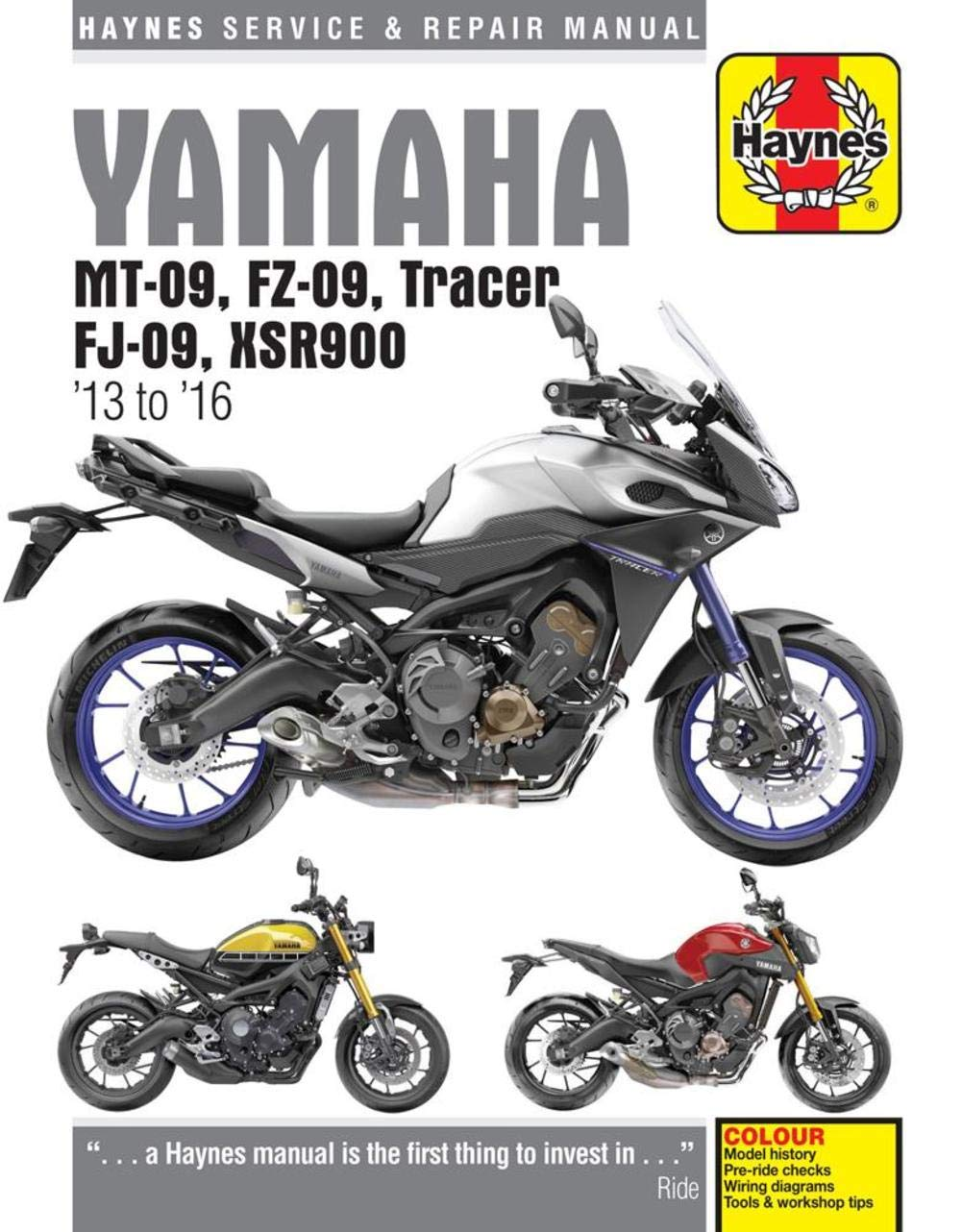 Amazon.com: Haynes Yamaha MT-09, FZ-09, Tracer FJ-09 & XSR900 Repair Manual  (2013-2016): Automotive