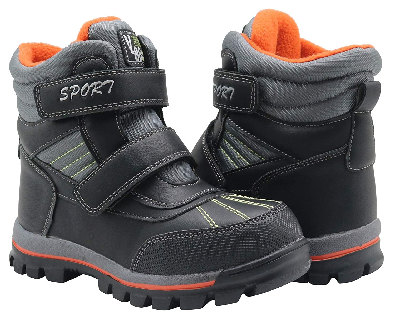 Toddler//Little Kid Apakowa Super Warm Waterproof Hiking Snow Boots