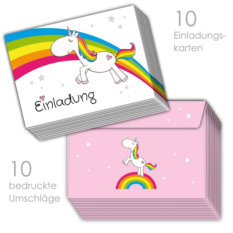 Einhorn Einladungskarten