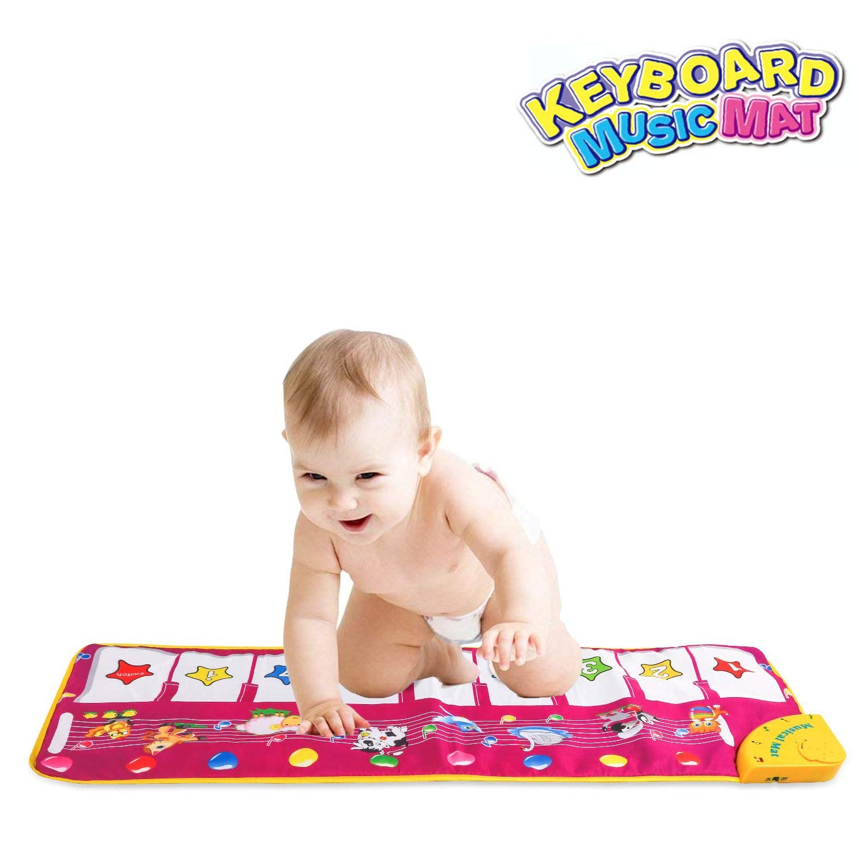 Jisener Piano Mat, Musical Dance Mat Keyboard Playmat Electronic Music Playmat Carpet Blanket for Kids Toys for 3-6 Year Old Girls 3 4 5 6 Year Old Girl Gifts Xmas Gifts for Kids