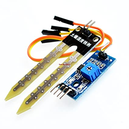 EVANA Plastic Soil Moisture Meter Testing, Humidity, Water Sensor, Hygrometer Detection Module for Arduino, 3.5-inch (Multicolour)
