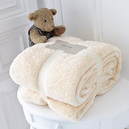 Home & Garden Bedding Teddy Bear Luxurious Throws Super Soft Warm Cosy Sofa And Bed Fleece Blankets Gc