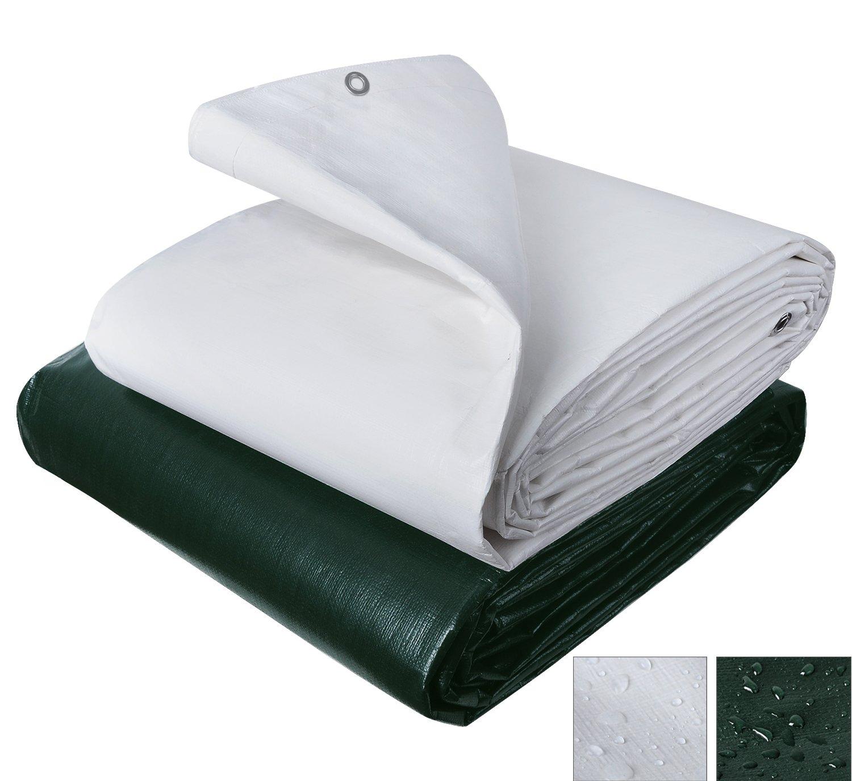 Jard/ín WOLTU Lona Impermeable Lona de Protecci/ón Duradera con Ojales para Muebles Coche 180 g//m2 Verde Oscuro 4x8m GZ1174m3 Piscina