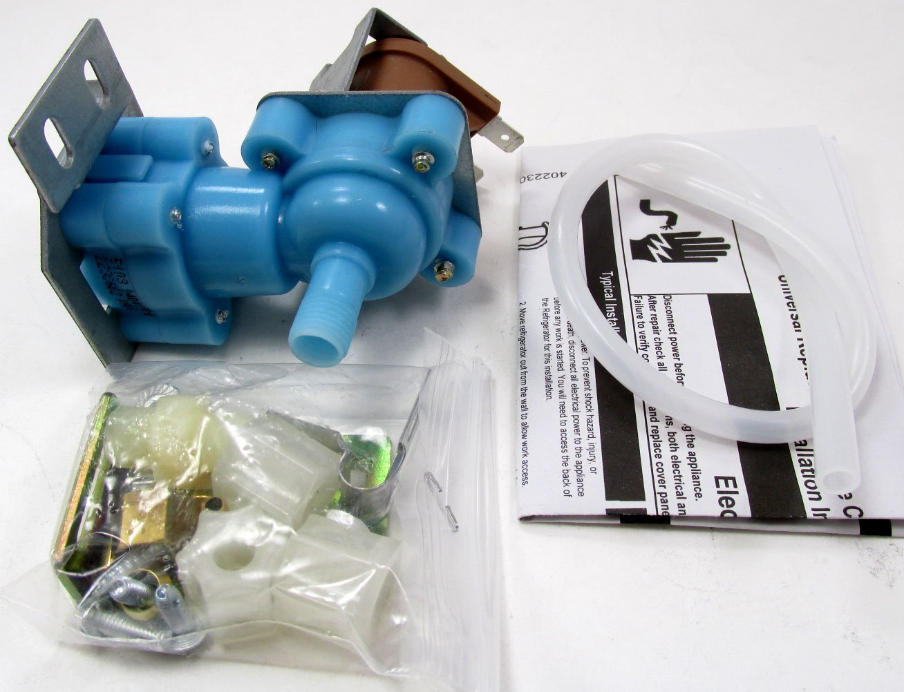 6-27461 - REFRIGERATOR SINGLE COIL ICEMAKER WATER VALVE KIT FOR ALL BRANDS