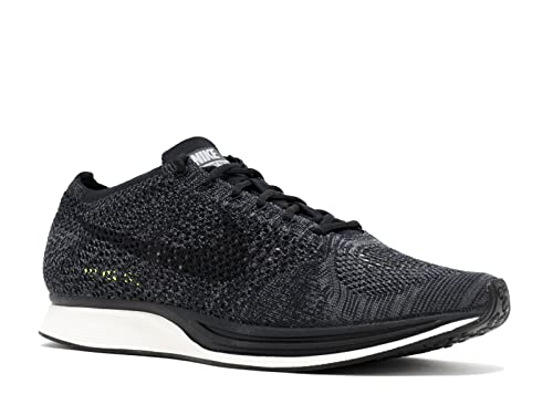 the latest efc03 73a3f Nike Flyknit Racer Blackout - Black Black-Dark Grey-Volt Trainer Size 7.5  UK  Amazon.co.uk  Shoes   Bags