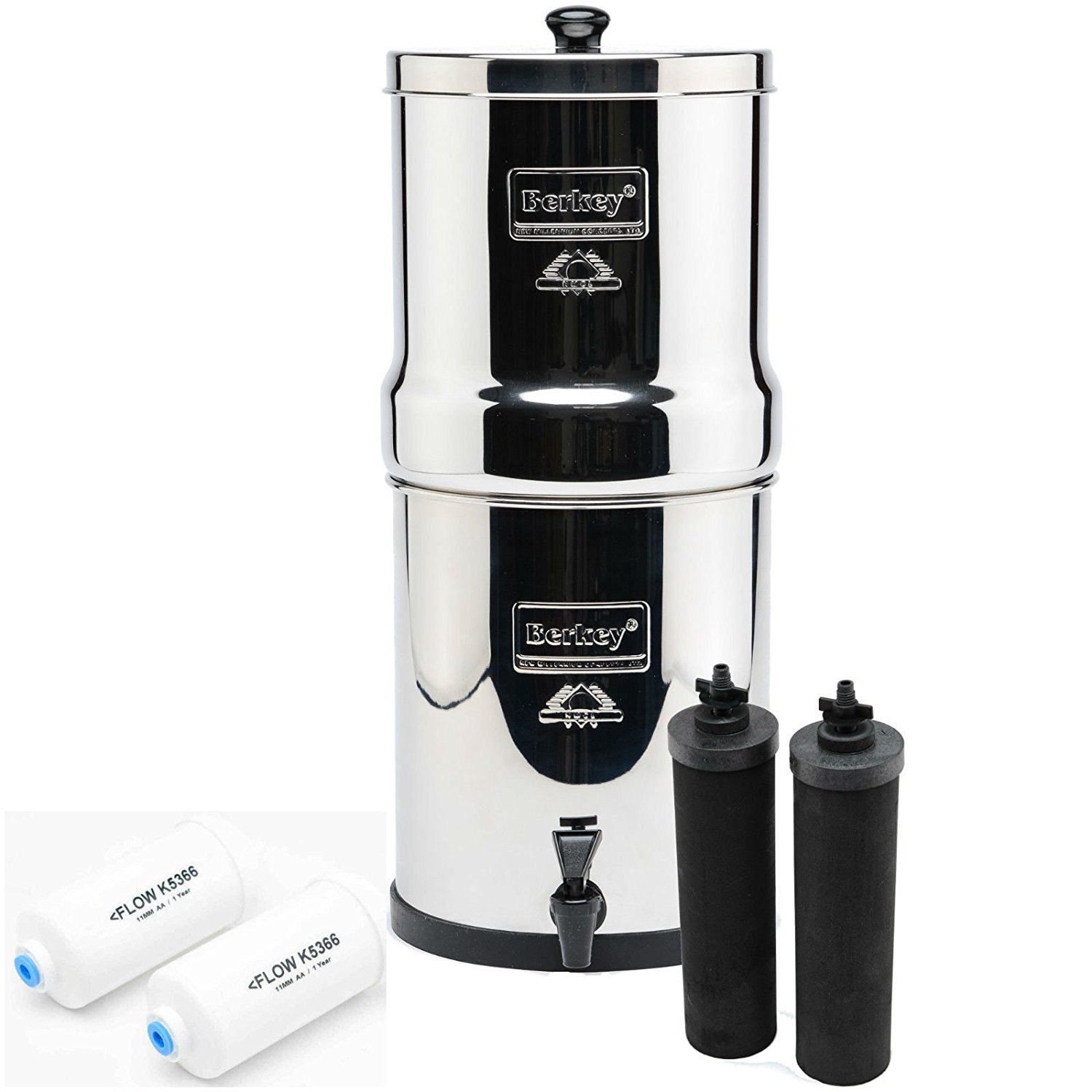 IMP6X2-BB Imperial Berkey with 2 Black Filters and 2 Fluoride Filters by Berkey