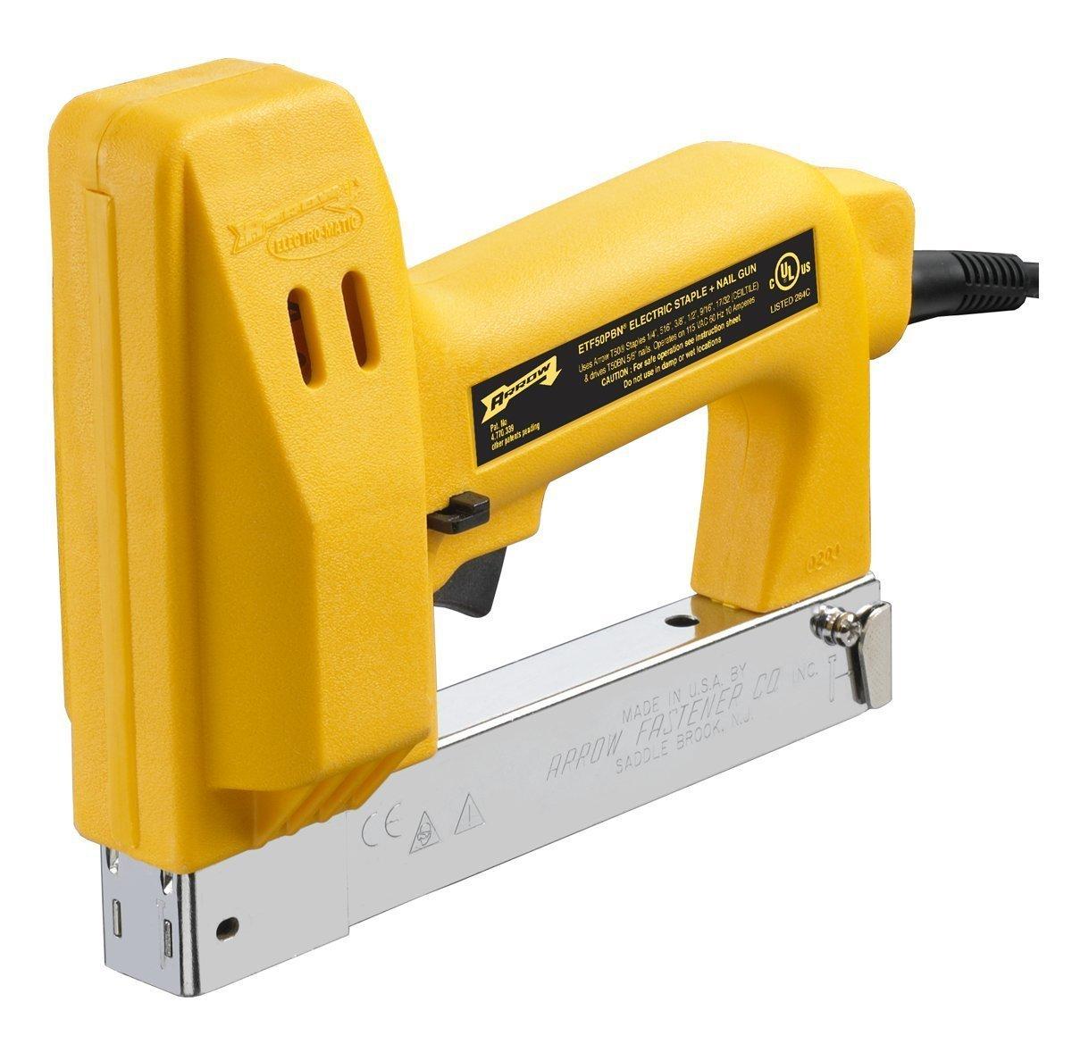 Amazon.com: Arrow Fastener ETF50PBN Pro Heavy Duty Electric Staple ...
