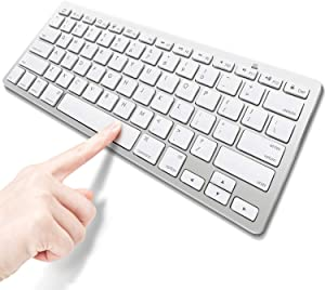 Ultra-Slim Bluetooth Keyboard for Ipad Compatible with iPad Pro 11/12.9,New iPad 9.7 Inch,iPad Air,iPad Mini and Other Bluetooth Enabled Devices,White Battery not Included