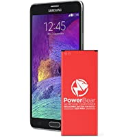 PowerBear Note 4 Battery (3220mAh) Li-Ion Battery for the Samsung Galaxy Note 4 [N910, N910U LTE, AT&T N910A, Verizon N910V, Sprint N910P, T-Mobile N910T] Note4 Spare Battery [24 Month Warranty]