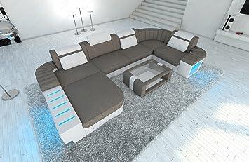Tremendous Big Fabric Sectional Sofa Bellagio U With Led Amazon Ca Beutiful Home Inspiration Aditmahrainfo