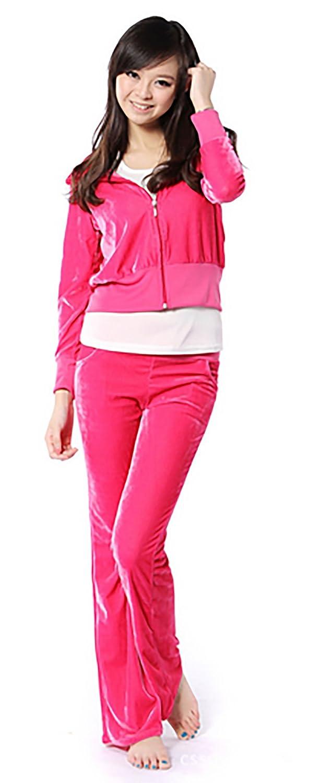 SDZYY Women'S Velour Hoodie+Pant Tracksuit Sport Sweat Suit Set Multicolor