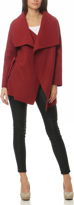 Malito Short Coat in The Waterfall-Design Jacket Trenchcoat Fleece Dufflecoat 3041 Women One Size
