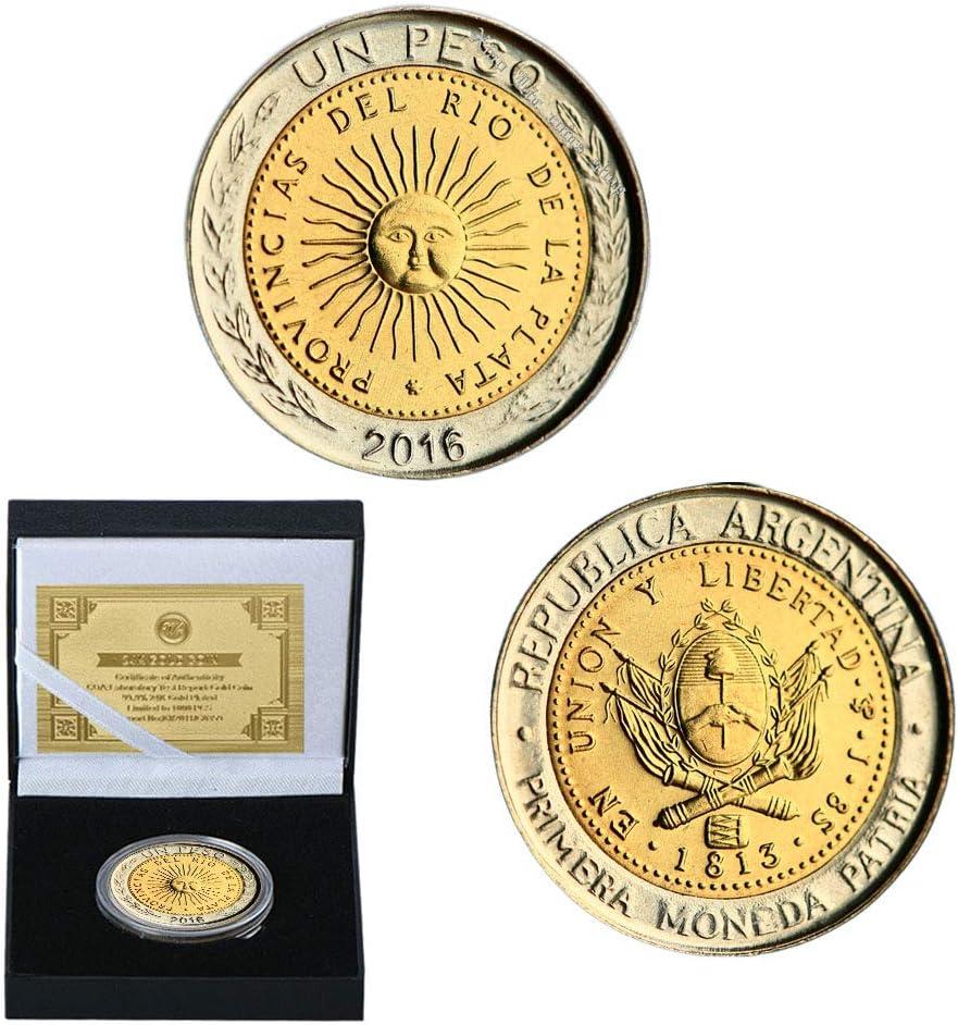 LSJTZ Argentina, Mayo de Sun, Dorado, Conmemorativa Monedas ...
