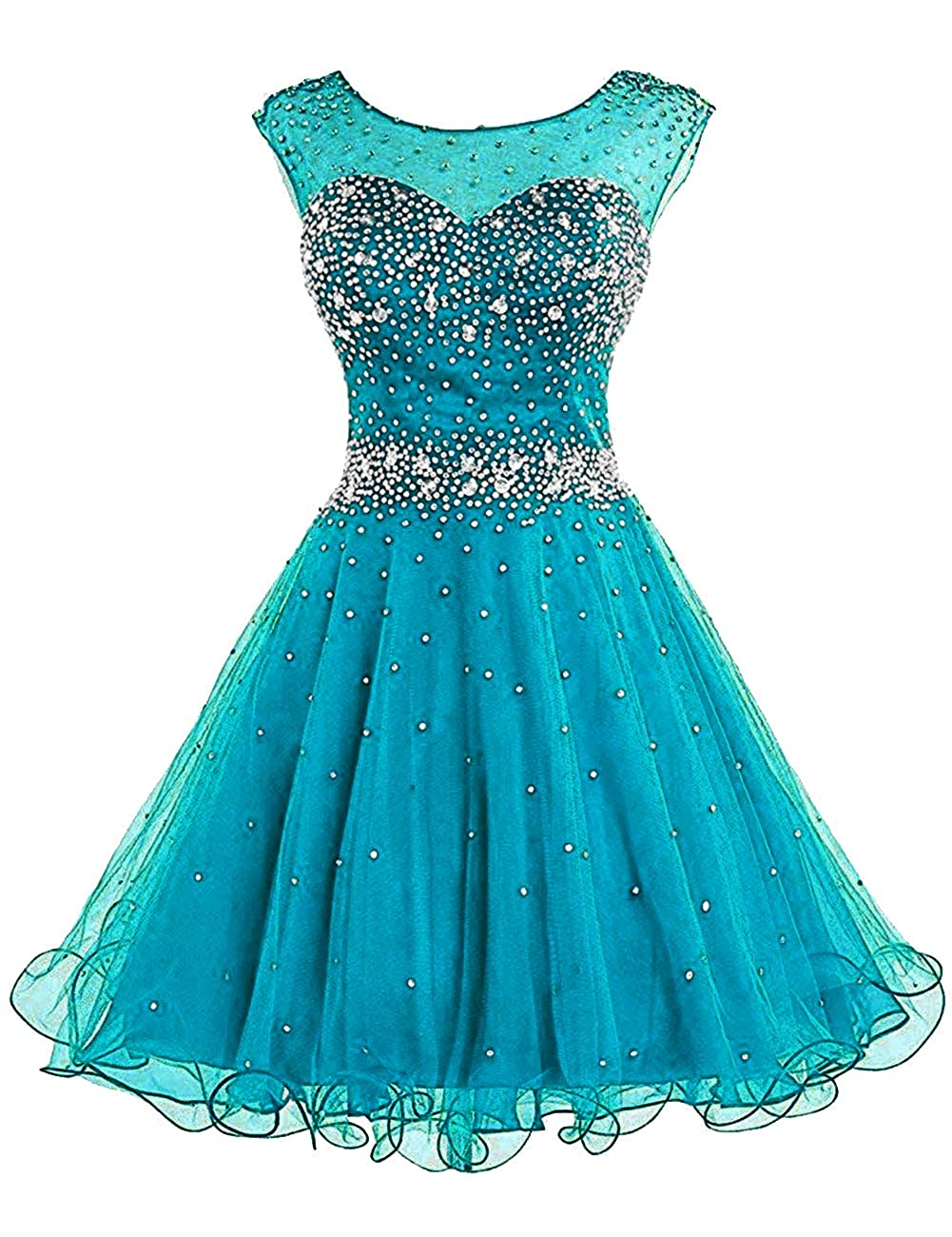 Teal bluee H.S.D Homecoming Dresses Prom Party Dresses Short Cocktail Dress Beads Graduation Gown