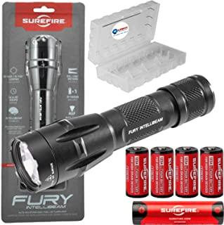 product image for SureFire Fury Intellibeam 1500 Lumen Tactical Flashlight (Fury-IB-DF) BUNDLE with 4 Extra SureFire CR123A batteries and a Lightjunction Battery Case