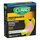 Amazon Price History for:Curad Performance Series Knee and Elbow Extreme Hold Antibacterial Fabric Bandages, 10 Count
