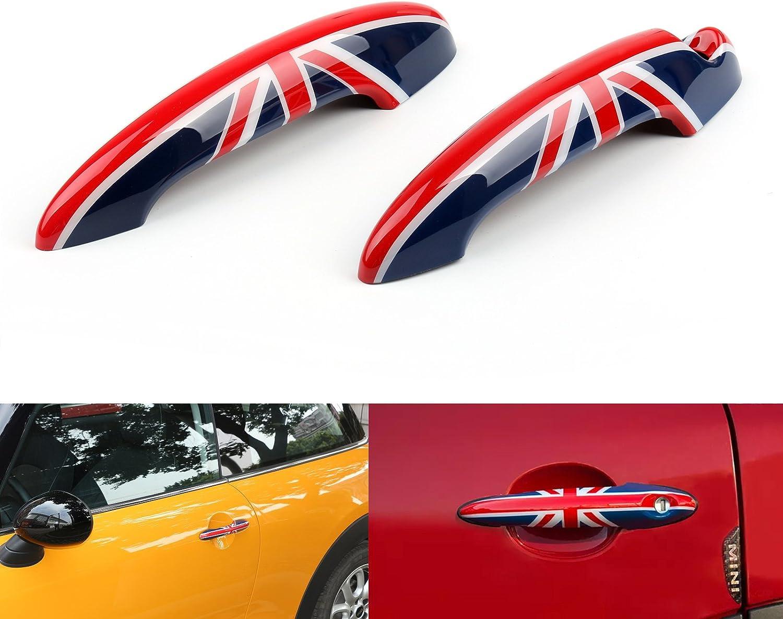 Areyourshop Black Union Jack UK Design Door Handle Cover For Mini Cooper R50 R52 R53 R55 R56