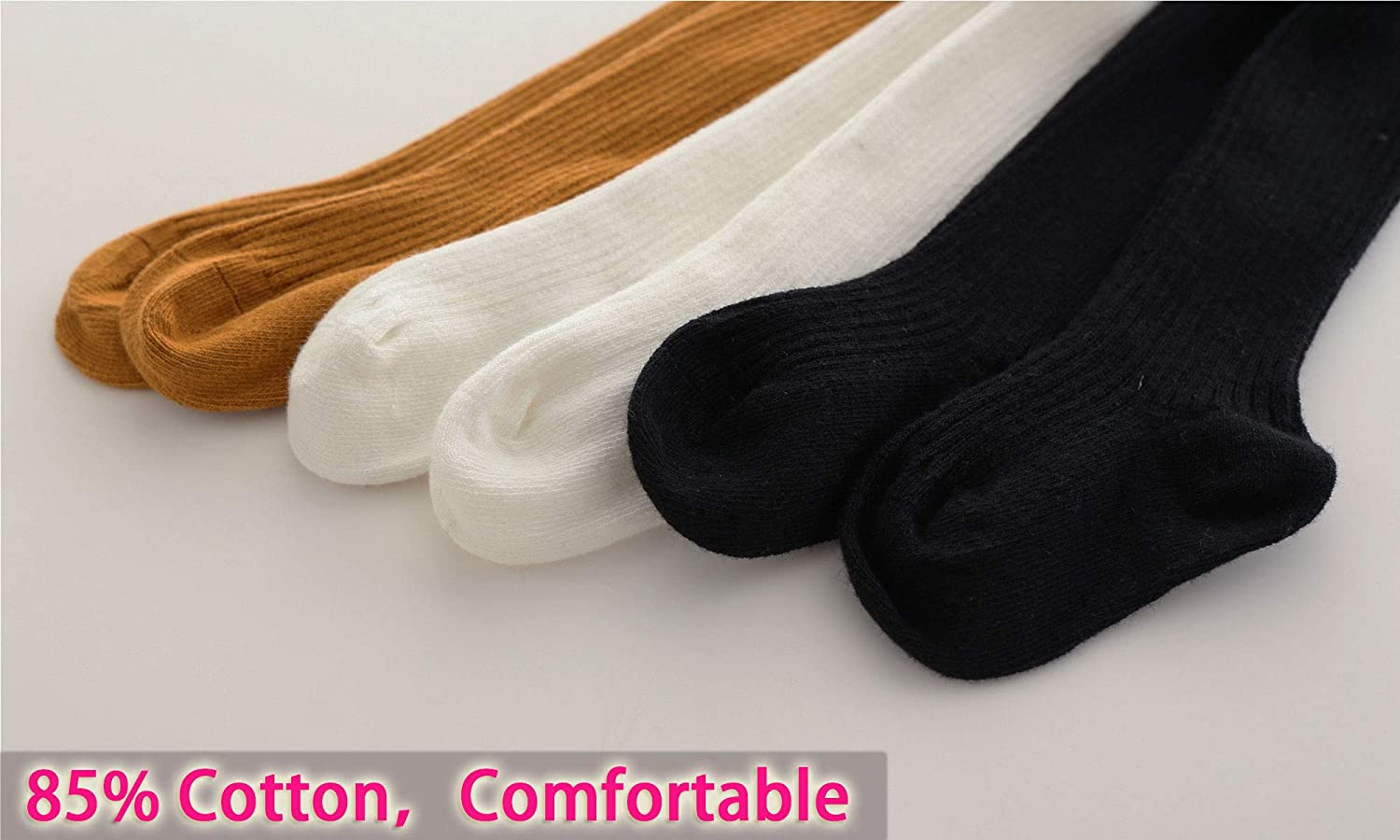 CECORC Baby Tights Thick Toddlers Girl Leggings Cable Knit Cotton Stockings
