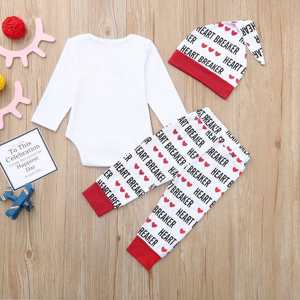 d314a247455 Cyhulu 3Pcs Newborn Baby Boys Girls Valentine s Day Clothes