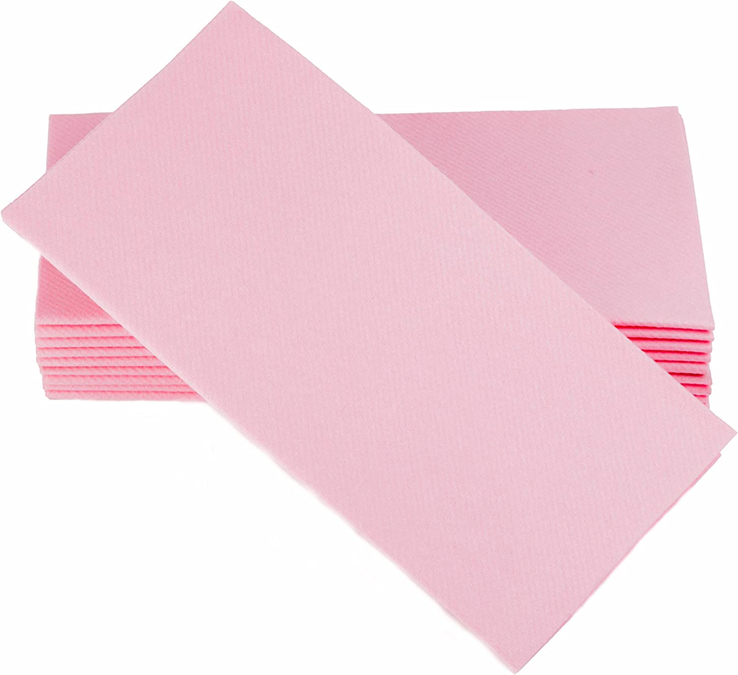 """Simulinen Colored Napkins - Decorative Cloth Like & Disposable, Dinner Napkins - Pink, Soft, Absorbent & Durable - 16""""x16"""" - Great for Any Occasion! - Box of 50"""
