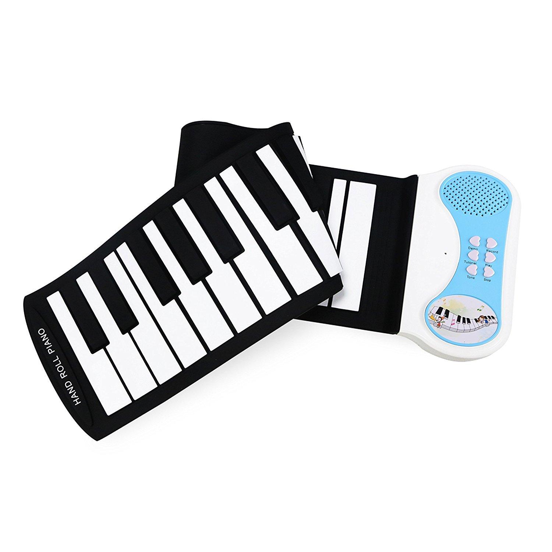 Eoncore 37 Keys Roll Up Portable Electronic Keyboard Piano Flexible Kids Piano Keyboard with Speaker for Beginners Boys Girls Blue by Eoncore