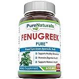Pure Naturals Fenugreek Seed 610 Mg, 180 Capsules