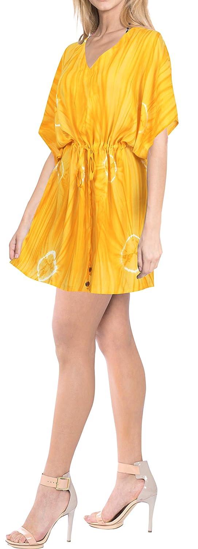 Dress Beachwear Boho Bikini Cover up Top Tunic Caftans Womens Tie Dye Drawsting